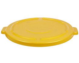 Kunststoffdeckel - mit Schnappverschluss, stapelbar - für 75-l Tonne, gelb