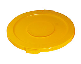 Kunststoffdeckel - mit Schnappverschluss, stapelbar - für 121-l Tonne, gelb