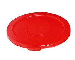 Kunststoffdeckel - mit Schnappverschluss, stapelbar - für 121-l Tonne, rot