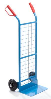 EUROKRAFT Stapelkarre mit Drahtgitter - Tragfähigkeit 100 kg - mit Vollgummireifen