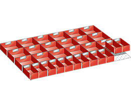 Schubladeneinteilungsset - Kunststoffkästen - für Höhe 50 mm