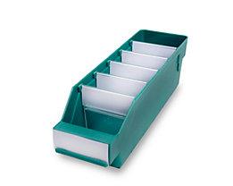 Regalkasten aus hochschlagfestem Polypropylen - grün - LxBxH 300 x 90 x 95 mm, VE 40 Stk
