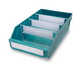 Regalkasten aus hochschlagfestem Polypropylen - grün - LxBxH 300 x 180 x 95 mm, VE 20 Stk
