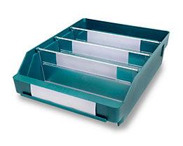 Regalkasten aus hochschlagfestem Polypropylen - grün - LxBxH 300 x 240 x 95 mm, VE 15 Stk