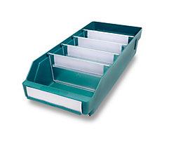Regalkasten aus hochschlagfestem Polypropylen - grün - LxBxH 400 x 180 x 95 mm, VE 20 Stk