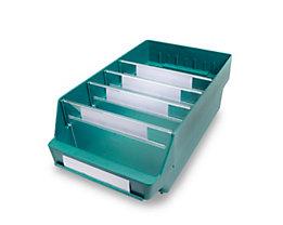 Regalkasten aus hochschlagfestem Polypropylen - grün - LxBxH 400 x 240 x 150 mm, VE 10 Stk