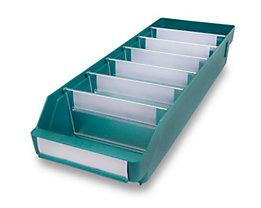 Regalkasten aus hochschlagfestem Polypropylen - grün - LxBxH 500 x 180 x 95 mm, VE 20 Stk