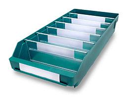 Regalkasten aus hochschlagfestem Polypropylen - grün - LxBxH 500 x 240 x 95 mm, VE 15 Stk