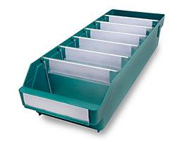 Regalkasten aus hochschlagfestem Polypropylen - grün - LxBxH 500 x 180 x 110 mm, VE 20 Stk
