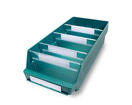 Regalkasten aus hochschlagfestem Polypropylen - grün - LxBxH 500 x 240 x 150 mm, VE 10 Stk