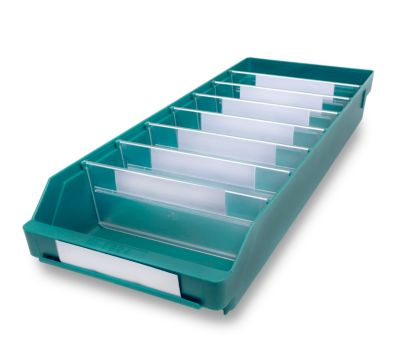 Regalkasten aus hochschlagfestem Polypropylen - grün
