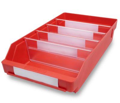 Regalkasten aus hochschlagfestem Polypropylen - rot
