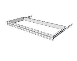 Schublade für Regal-Schranksystem - Höhe 65 mm - für Regaltiefe 400 mm