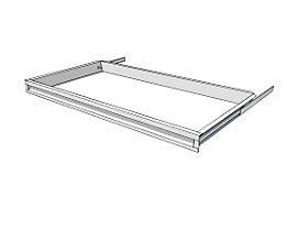 Schublade für Regal-Schranksystem - Höhe 65 mm - für Regaltiefe 500 mm