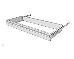 Schublade für Regal-Schranksystem - Höhe 100 mm - für Regaltiefe 400 mm
