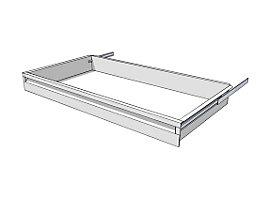 Schublade für Regal-Schranksystem - Höhe 100 mm - für Regaltiefe 500 mm
