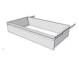 Schublade für Regal-Schranksystem - Höhe 175 mm - für Regaltiefe 500 mm