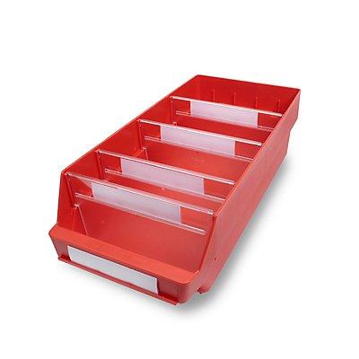 STEMO Regalkasten aus hochschlagfestem Polypropylen - rot