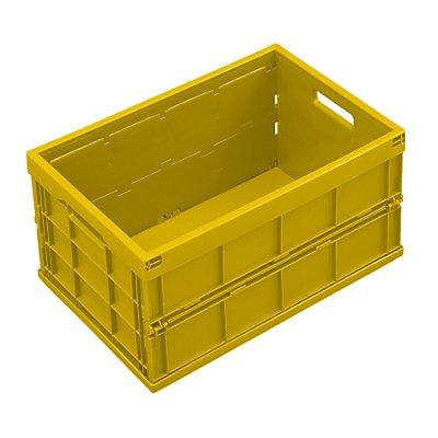 WALTHER Faltbox aus Polypropylen - Inhalt 40 l, ohne Deckel