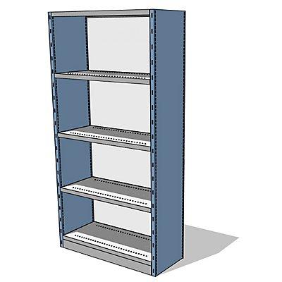 steelo Regal-Schrank-System mit Rück- und Seitenwänden - Regalhöhe 1960 mm