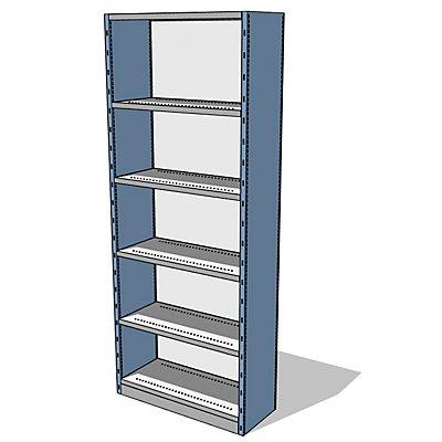 steelo Regal-Schrank-System mit Rück- und Seitenwänden - Regalhöhe 2500 mm