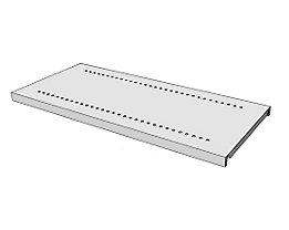 steelo Fachboden für Regal-Schranksystem - lichtgrau RAL 7035 - BxT 930 x 400 mm