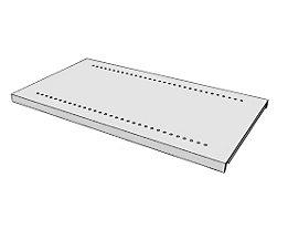 steelo Fachboden für Regal-Schranksystem - lichtgrau RAL 7035 - BxT 930 x 500 mm