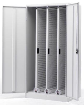 Vertikalauszugschrank - HxBxT 1950 x 1000 x 600 mm, mit Mitteltrennwand