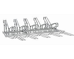 EUROKRAFT Fahrradständer, Bügel aus Stahlrohr, Radeinstellung zweiseitig - 10 Stellplätze