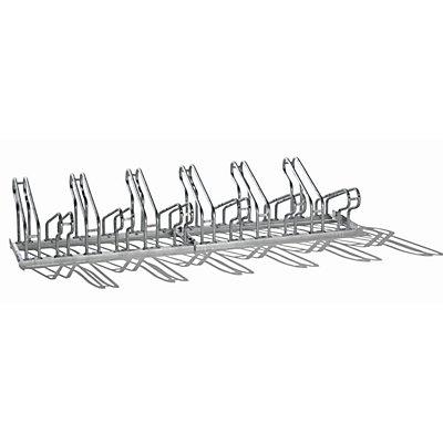 Fahrradständer zu Flachdachüberdachung - für doppelseitige Überdachung - mit 24 Stellplätzen, VE 2 Stk