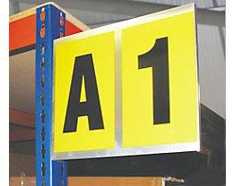 Alu-Leittafel - doppelt, für 2 Schriftzeichen - Höhe x Breite 260 x 310 mm