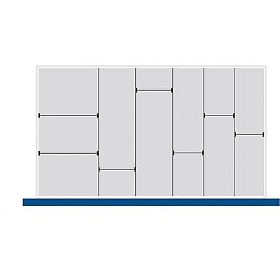 Schubladeneinteilungsset - Längs- und Quertrenner aus verzinktem Stahlblech