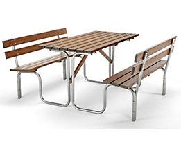 Bank-Tisch-Kombination - Tisch und 2 Sitzbänke