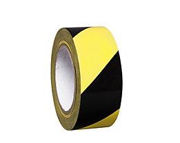 MORAVIA Bodenmarkierungsband aus Vinyl, zweifarbig - Breite 50 mm - gelb / schwarz, VE 8 Rollen