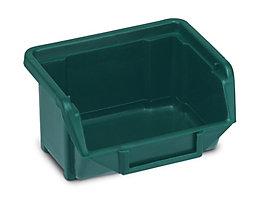 Terry Sichtlagerkasten aus Polypropylen - LxBxH 100 x 109 x 53 mm - grün, VE 40 Stk