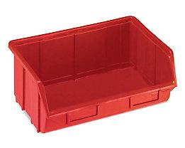 Terry Sichtlagerkasten aus Polypropylen - LxBxH 250 x 344 x 129 mm - rot, VE 12 Stk