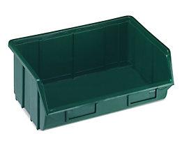 Terry Sichtlagerkasten aus Polypropylen - LxBxH 250 x 344 x 129 mm - grün, VE 12 Stk