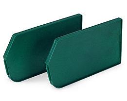 Sichtlagerkasten aus Polypropylen - LxBxH 250 x 344 x 129 mm - grün, VE 12 Stk