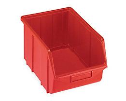 Terry Sichtlagerkasten aus Polypropylen - LxBxH 355 x 220 x 167 mm - rot, VE 10 Stk
