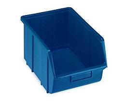 Terry Sichtlagerkasten aus Polypropylen - LxBxH 355 x 220 x 167 mm - blau, VE 10 Stk