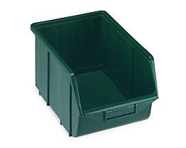 Sichtlagerkasten aus Polypropylen - LxBxH 355 x 220 x 167 mm - grün, VE 10 Stk