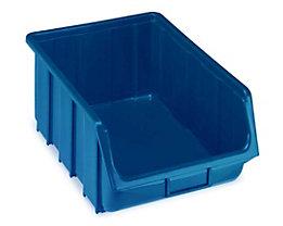 Sichtlagerkasten aus Polypropylen - LxBxH 505 x 333 x 187 mm - blau, VE 4 Stk
