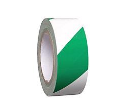 MORAVIA Bodenmarkierungsband aus Vinyl, zweifarbig - Breite 50 mm - grün / weiß, VE 8 Rollen