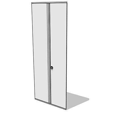 Flügeltür-Anbausatz - für Regalhöhe 2500 mm - lichtgrau