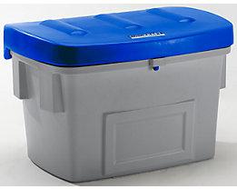 EUROKRAFT Universal- und Streusandbehälter - Volumen 100 Liter - Deckel blau