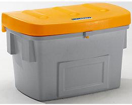 EUROKRAFT Universal- und Streusandbehälter - Volumen 100 Liter - Deckel orange