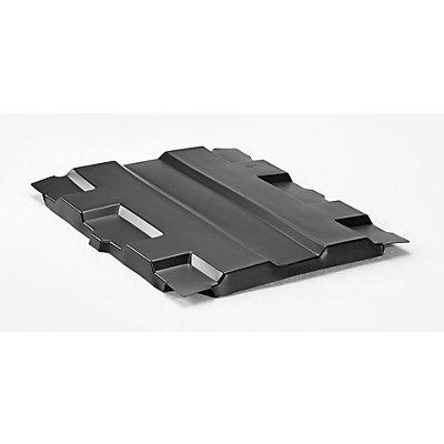Denios Deckel für Stapelbehälter - LxB 800 x 500 mm - schwarz