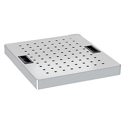 Lochblechabdeckung - BxT 500 x 500 mm - für Umweltschrank