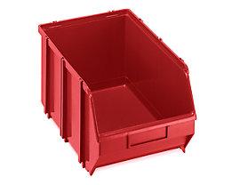 Terry Sichtlagerkasten, selbsttragend - LxBxH 341 x 210 x 167 mm - rot, VE 10 Stk