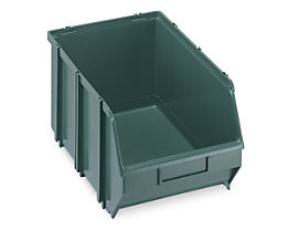 Sichtlagerkasten, selbsttragend - LxBxH 341 x 210 x 167 mm - grün, VE 10 Stk